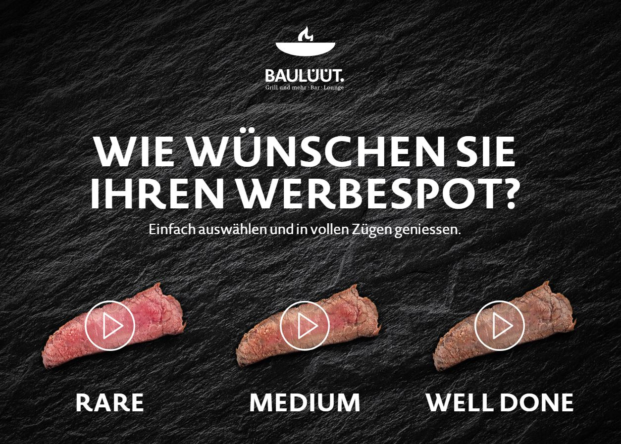 BAULÜÜT Werbespot: Rare, Medium oder Well Done?