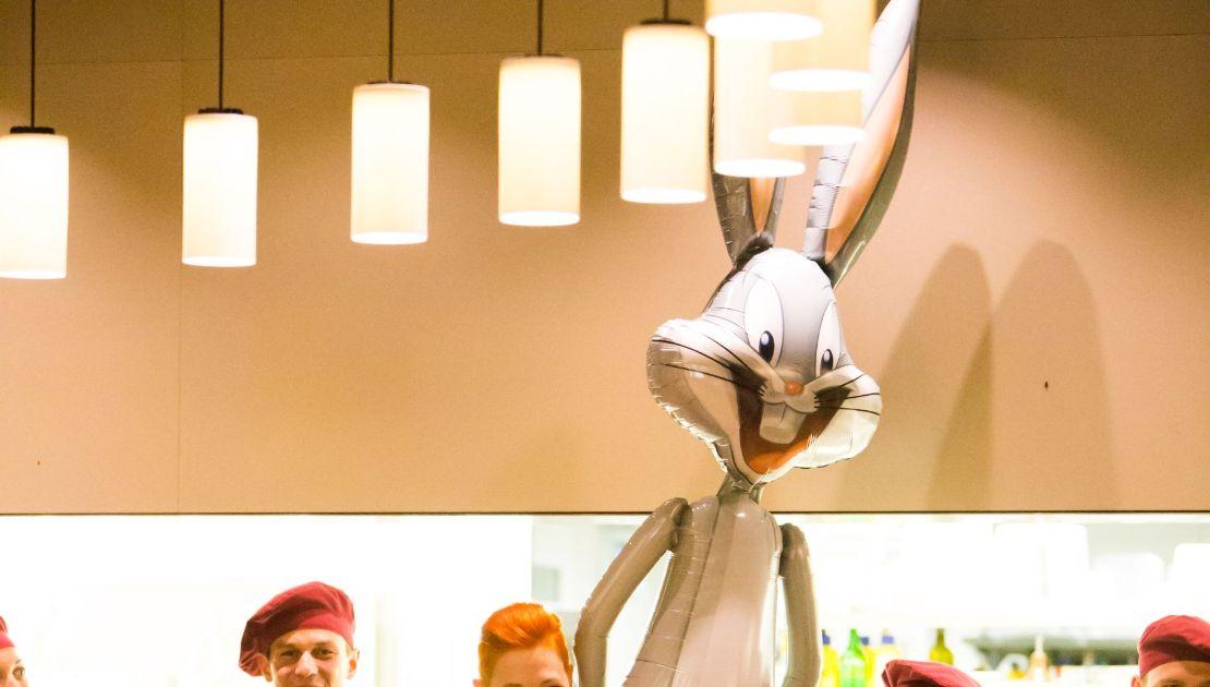 Detail Bugs Bunny im Baulüüt