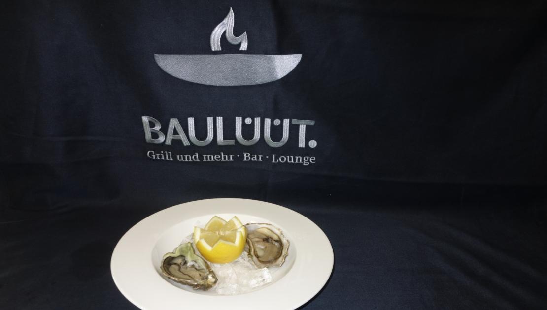 schön angerichtete Austern im Baulüüt