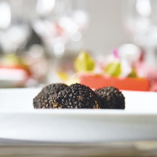Schwarze Trüffel im Grillrestaurant Baulüüt