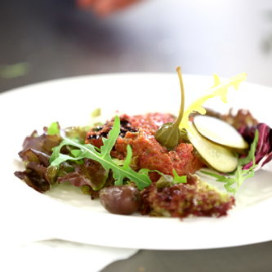 Tartar im Grill-Restaurant Baulüüt