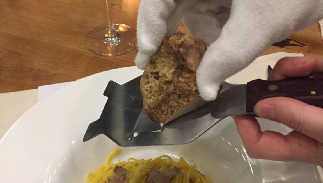 Frischer Trüffel im Restaurant Baulüüt