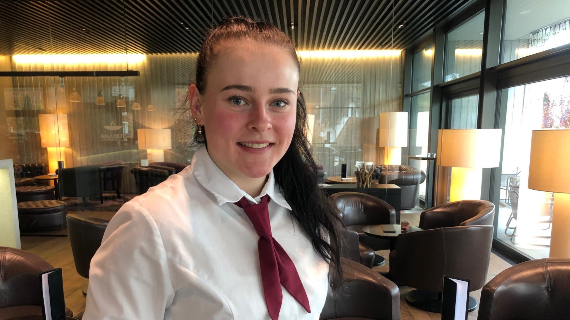 Nadine Heim, Lernende Restaurationsfachfrau